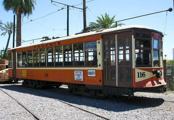 Car 116 - photo courtesy Phoenix Trolley Museum